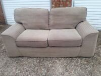 "Biege/Brown spec two seater sofa £45 ""free local delivery"""