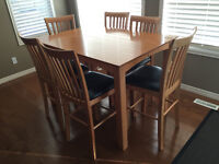 """36"""" high maple kitchen table"""