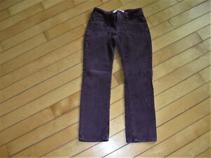 Size 5 Old Navy Cords plum color with waist adjustment