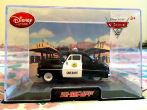 Disney store Die cast Cars Sheriff Police 1:43 New in Case