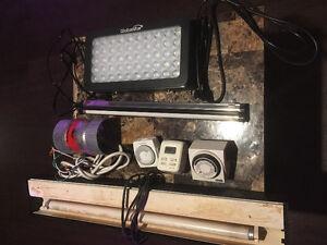 Various reptile/hydroponic lighting