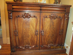 Beautiful Large Antique Buffet from Wales, Beautiful carving