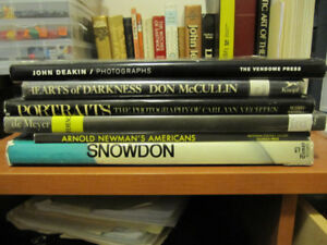 6 PHOTOGRAPHY BOOKS - FAMOUS PHOTOGRAPHERS - $10 FOR ALL 6