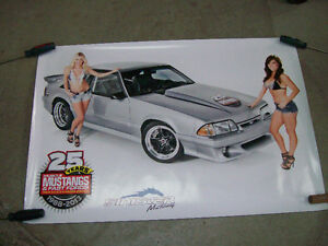 Poster / Affiche Mustang & Fast Ford 1988-2013