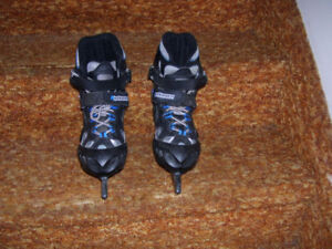 Size 1, size 2, and size 3, using the same skates.