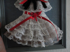 Vintage handmade lack doll wall hanging decorative accent London Ontario image 6