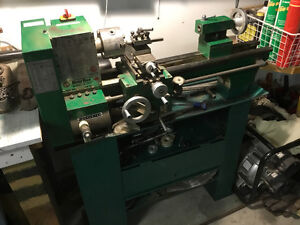 lathe and metal bender, shear and roll