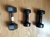 Weights to give away since we are moving