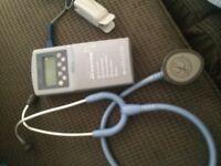 Stethoscope + oximeter