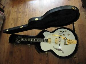 Archtop Guitar .  Ibanez Artcore series AF 75 Ivory with Bigsby