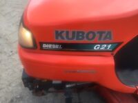 Kubota g21 ride on lawn mower