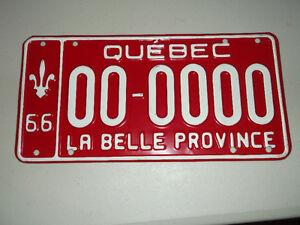 Plaque license 1966 66