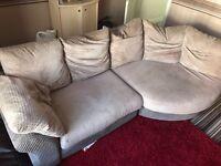Cream Fabric Sofa £100