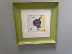 Baby/kids framed art (turtle an frog)