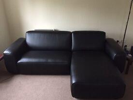 Ikea 2 seater Dagarn kimistad Black chaise sofa