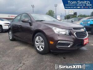2015 Chevrolet Cruze 1LT  - Bluetooth -  SiriusXM - $89.75 B/W