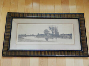 Antique 1890 Lithograph in Grain Painted Frame Kitchener / Waterloo Kitchener Area image 2