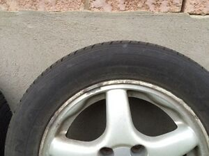 Selling rims and tires 195/60R14 Kitchener / Waterloo Kitchener Area image 2