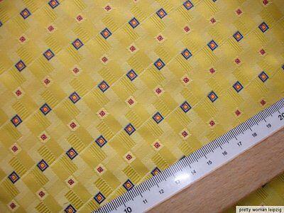 1 Lfm Jaquard  3,12€/m² gelb Kravattenstoff KB2
