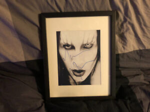 Marilyn Manson..Autographed Matted Picture / Slipknot  90 of 250