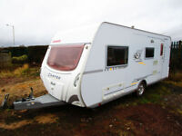 Dethleffs DL540 Camper four berth caravan with end bathroom