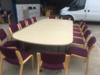 Large maple boardroom table