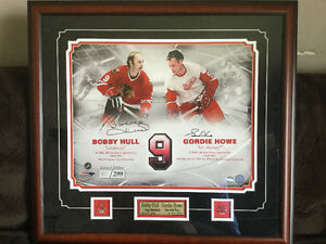 Bobby Hull and Gordie Howe Autographed Picture