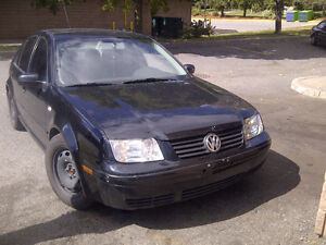 2000 VW JETTA TDI 5 SPD, BLACK 400KM RUNS WELL!!!