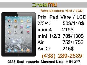 Réparation écran vitre / LCD pour  iPad 2 3 4 iPad mini 1 /2  Ai