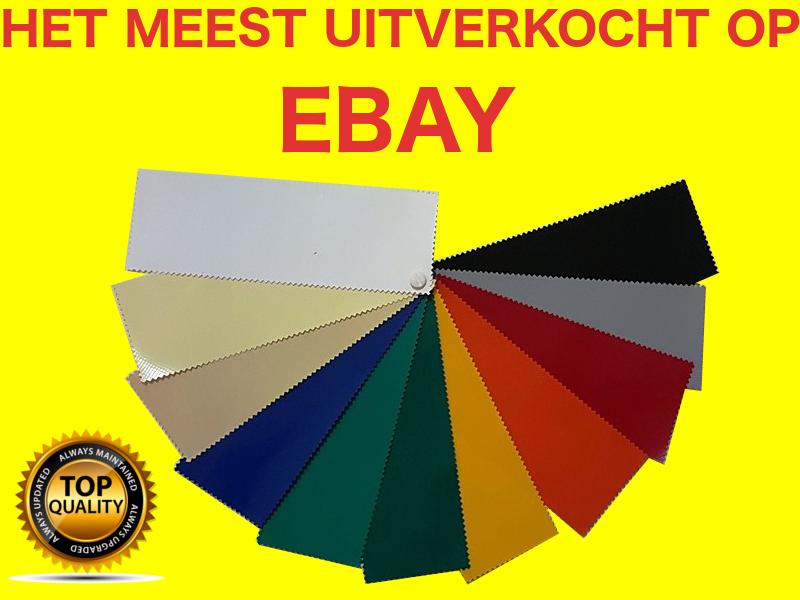 Dekzeilen/Dekzeil PVC-tenten 650 gr / m² WATERDICHT Meten 6x9m