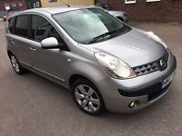Nissan Note 1.6 16v SVE 5dr manual petrol half leather alloys cd ac hpi clear with full s/h