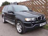 BMW X5 E53 3.0d Sport, 2002, Auto, Black, 124k Miles, * Does Not Drive *