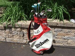 Ensemble Complet Golf Sac Wilson Taylormade Ping Nike Titleist