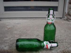Grolsch Beer Bottles 450ml resealable ceramic top (swing top)