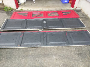 Panels for garage door