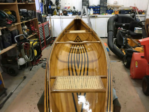 Custom hand made prospector canoe