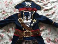 Kids pirate dress up costume. Age 3-4. Only worn once