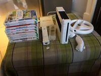 Nintendo wii with variety of games