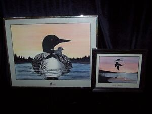 PAIR OF GLEN SCRIMSHAW PRINTS DATED 1988,SERENITY/EARLY ARRIVAL