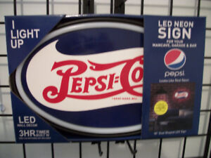 New LED Rope Neon Pepsi-Cola Sign