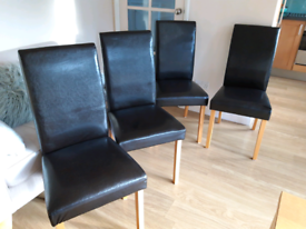 Dining Chairs x4 Faux Leather