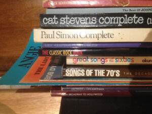 Sheet music books, Song books
