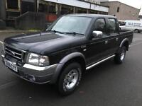 Ford Ranger 2.5TDdi XLT Thunder Double Cab. NEW GEAR BOX. DUE TO CRUNCH IN GEARS