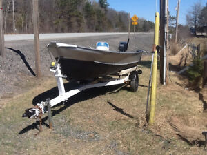 14 FT ALUMINUM, 15 MARINER  TRAILER