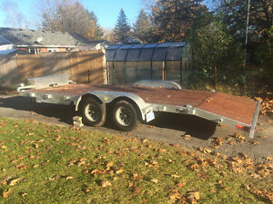 19ft 2016 galvanized steel car trailer