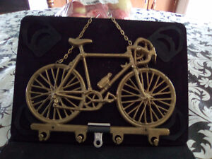 2-train sets with tracks+ 2 miniature brass bicycles 30.00