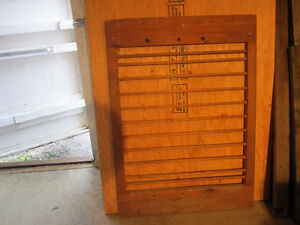 Set of 2 Old Large Wooden Gates spice or dried herb rack