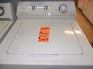 6 Month Warranty on Reconditioned Washers
