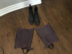 Girls riding boots and chaps