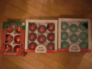 Three Boxes of Glass Christmas Ornaments